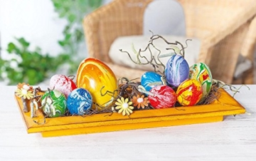 100 Deko-Eier ca. 6 cm, Kunststoff, Eier dekorieren, Ostern, Osterdekoration - 2