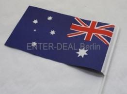 50 Stück PAPIERFAHNEN mit Stab - AUSTRALIEN - - 1