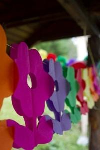 Rechtzeitige Planung senkt den Stresslevel bei der Kindergeburtstagsparty, Papiergirlande