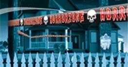 """Absperrband, Schriftzug """"Horrorzone"""", Kunststoff, 15 m - 1"""