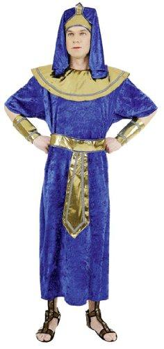 Ägypter-Kostüm: Gewand mit Kleid, Gürtel, Kopfbedeckung und Armstulpen - 1