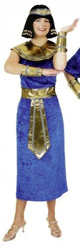 Ägypterin-Kostüm: Gewand mit Kleid, Gürtel, Kopfband und Armstulpen - 1