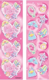 Aufkleber: Sticker, Motive für eine Prinzessin, 8 Bögen - 1
