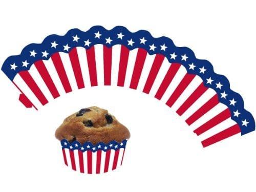 Banderole: Muffin-Banderolen, USA-Design, 12 Stück - 1
