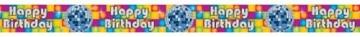 "Banner: Banner-Bordüre, Disco, ""Happy Birthday"", 360 x 12,7 cm - 2"