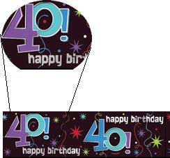 """Banner-Bordüre: Schriftzug """"Happy Birthday"""" und """"40"""", 360 cm x 13 cm - 1"""