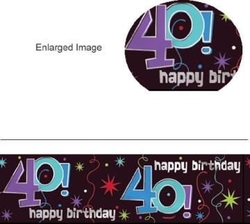 """Banner-Bordüre: Schriftzug """"Happy Birthday"""" und """"40"""", 360 cm x 13 cm - 2"""