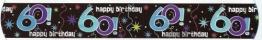 """Banner-Bordüre: Schriftzug """"Happy Birthday"""" und """"60"""", 360 cm x 13 cm - 1"""