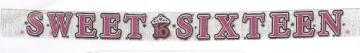 """Banner-Girlande mit Schriftzug """"Sweet Sixteen"""", 240 cm lang - 1"""