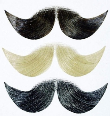 Bart: Schnurrbart, deluxe, grau - 1