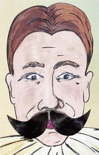 Bart: Schnurrbart, deluxe, grau - 2