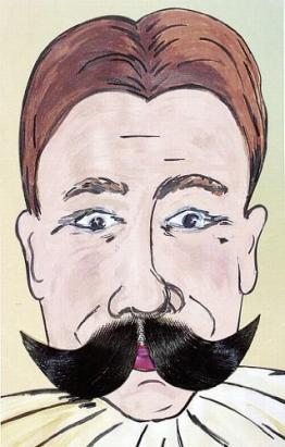 Bart: Schnurrbart, deluxe, schwarz - 1