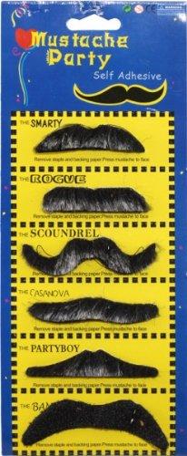 Bartkarte: Bärte-Sammlung, verschiedene Formen, 6 Stück - 1