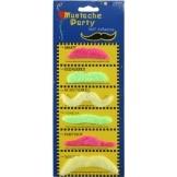 Bartkarte: Bärte-Sammlung, verschiedene Formen, bunt, neonfarben, 6 Stück - 1