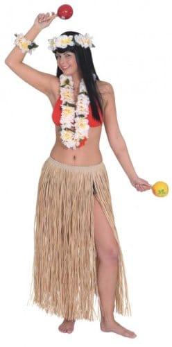 Bastrock: Hawaii-Rock, mit Kordel, 70 cm, bunt - 1