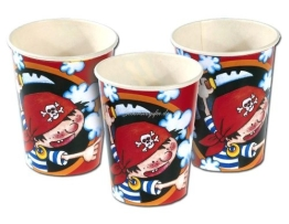 Becher PIRATENPARTY, 8er-Pack Einweggeschirr - 1