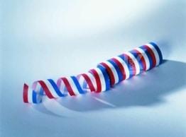 Blau-weiß-rote Luftschlange - 1