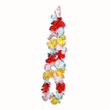 Blumenkette Bunt Blumenketten Hawaiikette Hawaiiketten - 1