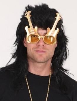 Brille: Musiker-Brille mit Gitarren - 1