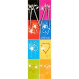 Buchstaben-Wunderkerze: verschiedene Buchstaben - 1