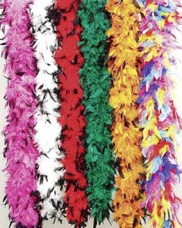 Bunte Federboa, multicolor, 60 g, 180 cm Länge - 1