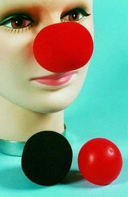 Clownnase, rot, Schaumgummi - 1