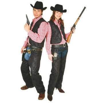 Cowboy Kostum Damen Chaps Lederimitat Party Deko Shop De