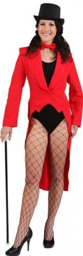 Damenfrack rot ohne Futterstoff - 1