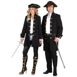 Damenjacke Pirat schwarz de Luxe - 1