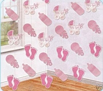 """Deckenhänger, """"Baby Girl"""", rosa, 210 cm, 6er-Pack - 1"""