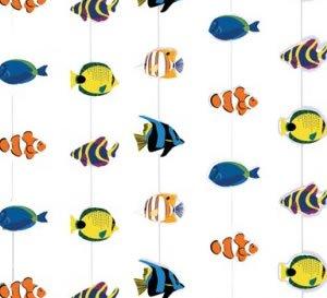 Deckenhänger, bunte Fische, 210 cm, 6er-Pack - 1