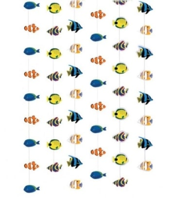 Deckenhänger, bunte Fische, 210 cm, 6er-Pack - 2