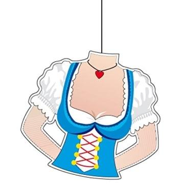 Deckenhänger: Dirndl-Motiv für das Oktoberfest und Bayern-Partys - 1