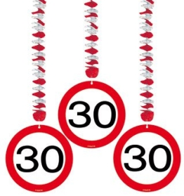 Deckenhänger: Rotorspirale, Verkehrsschild 30, 75 cm, 3er-Pack - 1