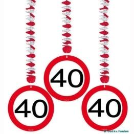 Deckenhänger: Rotorspirale, Verkehrsschild 40, 75 cm, 3er-Pack - 1