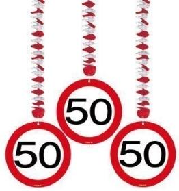 Deckenhänger: Rotorspirale, Verkehrsschild 50, 75 cm, 3er-Pack - 1