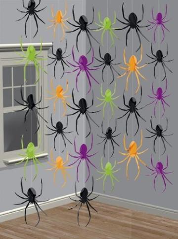 Deckenhänger, Spinnen, 210 cm, 6er-Pack - 2
