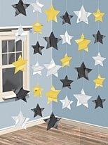 Deckenhänger, Sterne, verschiedene Farben, 210 cm, 6er-Pack - 1