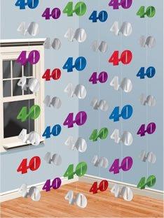 Dekoration Zum 40 Geburtstag In Fetenman S Party Deko Shop De