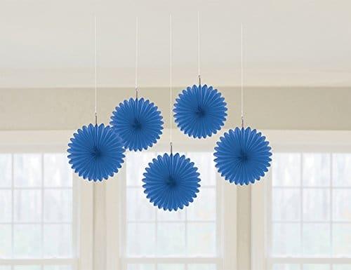 Deko f cher einfarbig in dunkelblau 15 cm 5er pack for Party deko shop