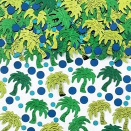 Deko-Konfetti: Streudeko mit grünen Palmen, 15 g - 1