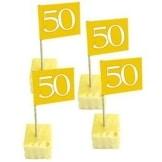 Deko-Picker: Party-Picker, Zahl 50, gold, 65 mm Höhe, 50er-Pack - 1