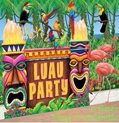 Deko-Set: Wandfolien für eine Hawaii-Party/Beachparty - 1