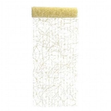 Deko-Sisal, creme-gold, 15 m, 17 cm breit – Tischläufer - 1