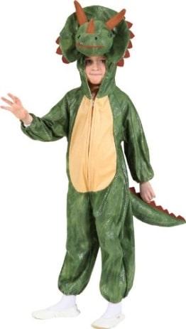 Dinosaurier-Kostüm: Dino-Overall, grün, verschiedene Kindergrößen - 1