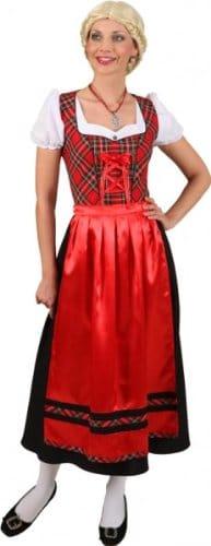 """Dirndl """"Äva"""", Kleid mit Schürze, schwarz-rot, verschiedene Größen - 1"""