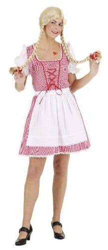 Dirndl rot-weiß : Kleid und Schürze - 1