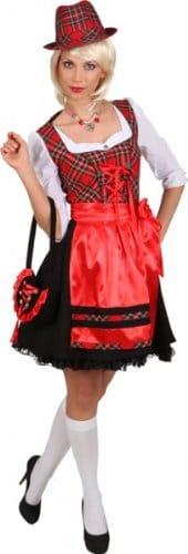 """Dirndl """"Vroni"""", Kleid mit Schürze, schwarz-rot, verschiedene Größen - 1"""