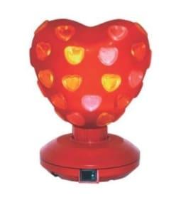 Disco-Licht: Disco-Herz mit roten Herz-Leuchten, 200 mm Höhe, 155 mm Durchmesser - 1