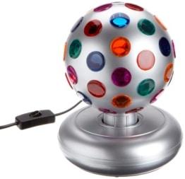 Disco-Licht: Disco-Leuchte mit verschiedenen Lichtfarben, silber, 270 x 185 mm - 1